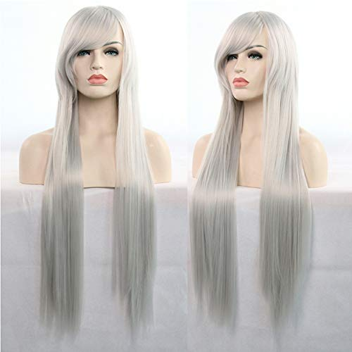 Littlefairy Peluca Anime Cosplay Jugar Color co Host Original enrolle el  Cabello Largo y Recto 80cm 212f5eb27bc8