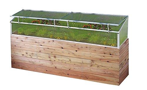 Thermo-Frühbeet 150, mit 2 Fenstern, für Holz Hochbeet 150x75cm, Lieferbar ab Februar 2018