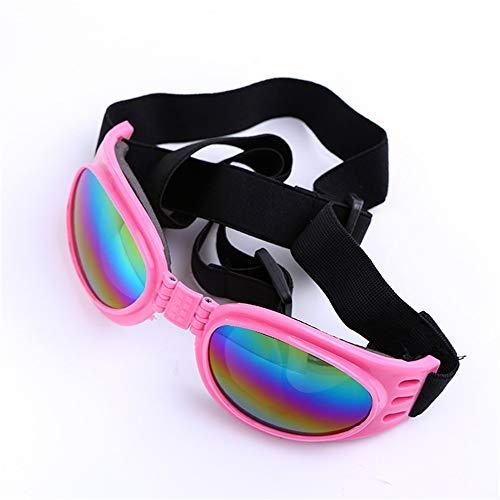 Im Freien Deko-Hundebrille UV-Schutz Sonnenbrille Winddicht mit verstellbarem Band für Welpen Doggy Cat (Color : Pink)