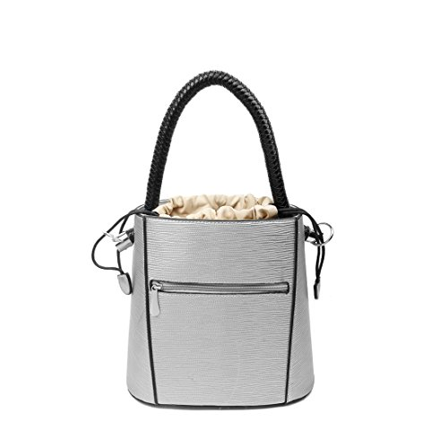 OBC Only-Beautiful-Couture, Borsa a mano donna beige Beige ca.: 27x26x14 cm (BxHxT) argento
