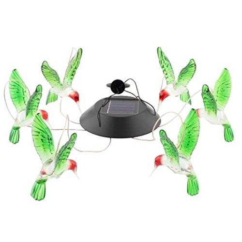 Generic Solar Windspiele Farbe Wechselnden LED Schmetterling Licht Lampe Hause Garten Dekoration – Grün - 4
