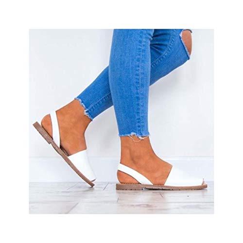 Women Sandals Fashion Peep Toe Summer Shoes Woman Faux Suede Flat Sandals Plus Size 43 Casual Shoes Woman Sandals Zapatos Mujer White 6.5 Faux Suede Peep-toe