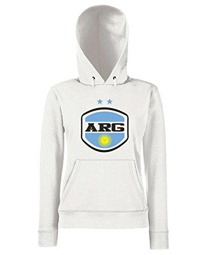 T-Shirtshock - Sweats a capuche Femme WC0023 ARGENTINA Blanc