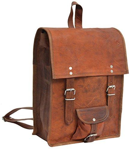 """Gusti Cuir nature """"Joe"""" sac à dos en cuir sac ordinateur portable sac porté épaule bacpack en cuir bagage à main sac de voyage en cuir homme femme cuir de chèvre marron U39"""