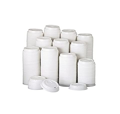 Dixie 9542500DXCT - Dome Drink-Thru Lids, Fits 10, 12 & 16 oz. Paper Hot Cups, White, 500/Carton by Dixie by Dixie
