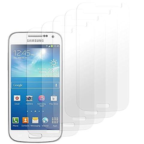 Samsung Galaxy S4 Mini Displayschutzfolie - 5 Stück - Premium Folien Kristallklar mit Anleitung für Samsung S4 Mini