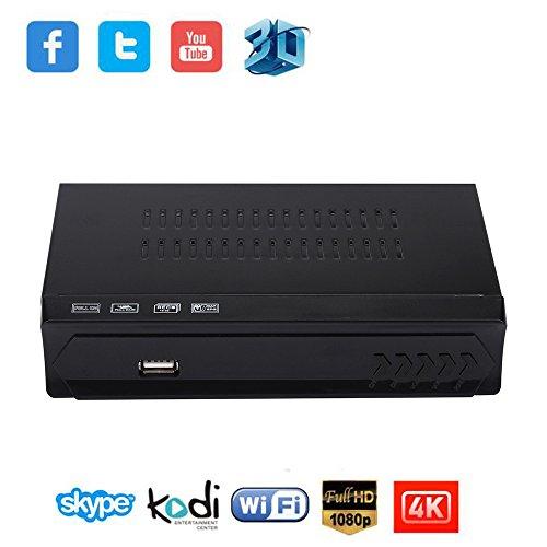 Set-Top-Box kingko Digitale Satelliten + Wifi IPTV Combo 512 M + 4G DDR3 Empfänger Blind TV BOX IKS (Schwarz)