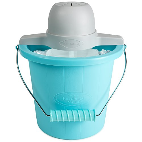 Nostalgia Electrics 4-Quart Electric Ice Cream Maker, Blue