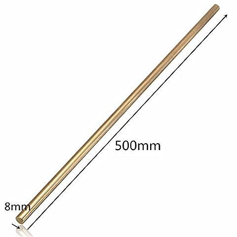 EsportsMJJ 8mm Diameter 100/200/330/500mm Brass Round Bar Rod Circular Tube -500mm