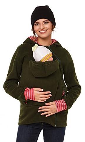 Happy Mama. Women's Maternity Fleece Hoodie Duo Top Carrier Baby