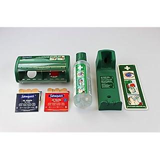 Cederroth FLEXEO-Erste-Hilfe-Spar-Set, mit Augenspülflasche inkl. Wandhalterung und Pflasterspender ink. Füllung