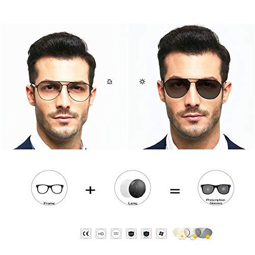 Gafas lectura elegantes fotocromática transición