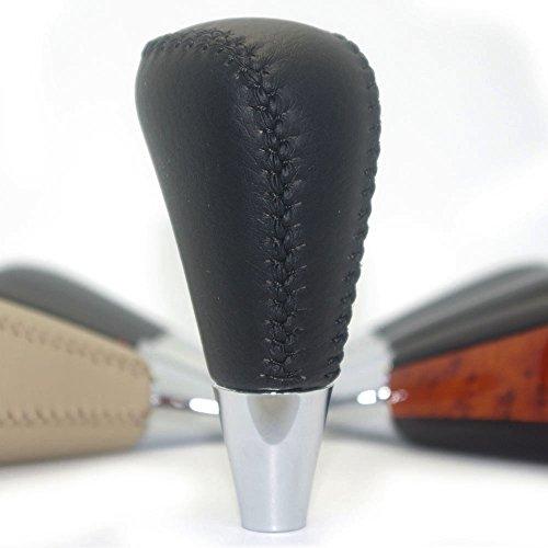 Preisvergleich Produktbild Schwarz Leder Stitch Schaltknauf Camry Solara Sienna Avalon Krone RAV4 Hiace GS LS RX ES