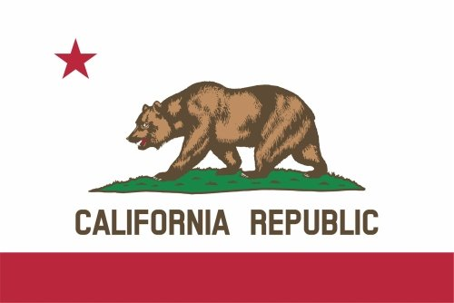 KIWISTAR Aufkleber - Kalifornien Sacramento - Bundesstaat USA Autoaufkleber Sticker State Flagge