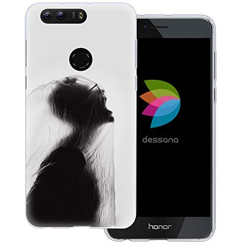 dessana Horror Transparente Schutzhülle Handy Case Cover Tasche für Huawei Honor 8 Horror Schrei 8 Gore-cover