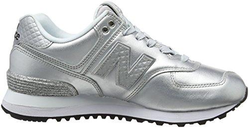 New Balance Wl574v2 Glitter Pack, Sneaker Donna Grigio (Grey)