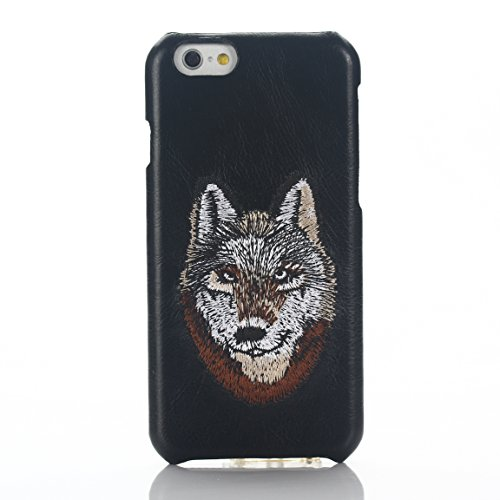 iPhone 6s Hülle,iPhone 6 leder Hülle,Sunroyal Schön Rot Leopard Muster Embroidery Textile Drucken Entwurf Hart Bumper Tasche Schutzhülle Protective Case Cover für iPhone 6/6S (4.7 Zoll) Pattern 01