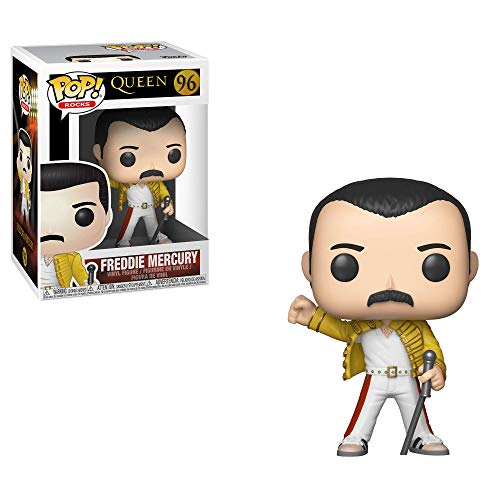 Funko-  Pop Vinyl: Rocks: Queen: Freddie Mercury (Wembley 1986) Figura Coleccionable,  Multicolor,  Estándar (33732)