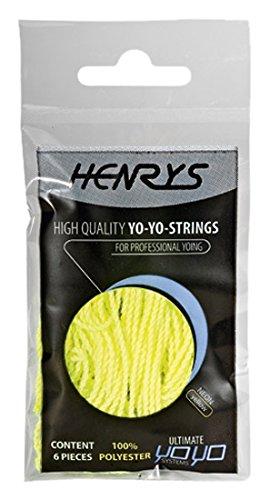 Henrys A01006-S05 - Yo-Yo Ersatzschnüre 6 Stück, neongelb