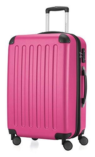 HAUPTSTADTKOFFER - Spree - Hartschalen-Koffer Koffer Trolley Rollkoffer Reisekoffer Erweiterbar, TSA, 4 Rollen, 65 cm, 74 Liter, Magenta