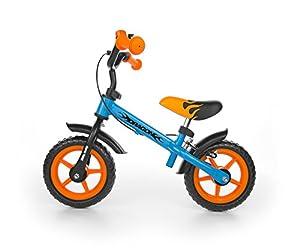 "Milly Mally Dragon Z Hamulcem Infantil Unisex Ciudad Acero Negro, Azul, Naranja bicicletta - Bicicleta (Ciudad, Acero, Negro, Azul, Naranja, 25,4 cm (10""), Sin Cadena, Freno de Mano)"
