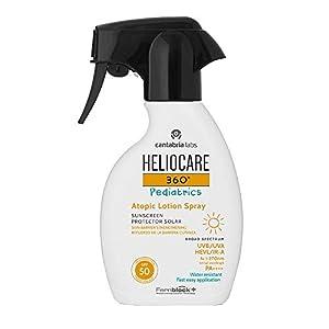 Heliocare 360º Pediatrics Atopic Lotion Spray SPF 50 – Crema Solar para Niños, Hidratante, Ultraligera, Hipoalegérnica, Pieles Sensibles o Atópicas, 250ml