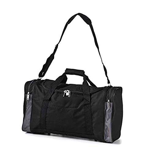 5 Cities Holdall Duffle Sports/Gym & Hand Luggage Shoulder Bag (Black, 32L)