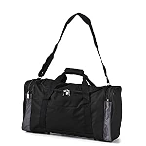 5 Cities® world's lightest (only 0.5kg!) Cabin Size holdall -fits Ryan Air/Easy Jet 55 x 40 x x 20 -flight bag. Actual dimension 54x30x20, Massive 32l Capacity - The ultra light carry on cabin bag! Black - 'Right Size, Right Weight, Right Price!' - LuggageTravelBags