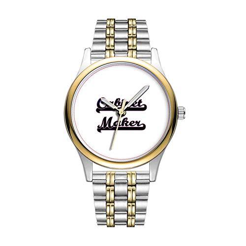 Personalisierte Minimalistische Cabinet Maker Classic Job Design Watch Goldene Fashion wasserdichte Sportuhr - Runde Cabinet