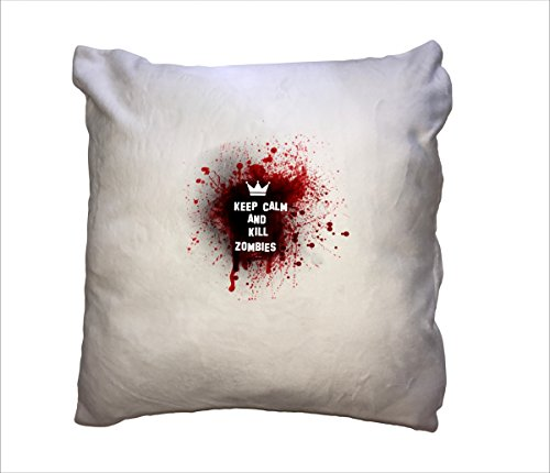 n Flauschig Kissen Flauschig Keep Calm and Kill Zombies … - Kissen - Deko - Lustig - Arbeit - Büro - Chef - Geschenk (Zombie Deko Ideen)