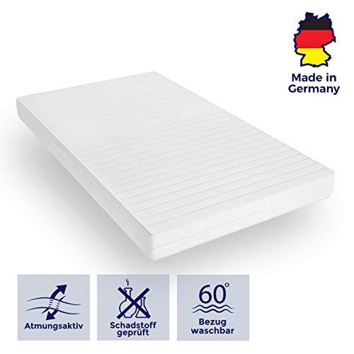 Mister Sandman orthopädische 7-Zonen-Matratze für besseren Schlaf - Kaltschaummatratze H2/H3 mit ergonomischen Liegezonen und Mikrofaserbezug - (70 x 200 cm, H3) -