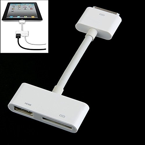 Price comparison product image REALMAX® iPad to HDMI TV AV HD Video Adapter for 30 Pin cable Dock to iPad 2 3 iPhone 4 4S iPod Touch 4G IOS 8 9