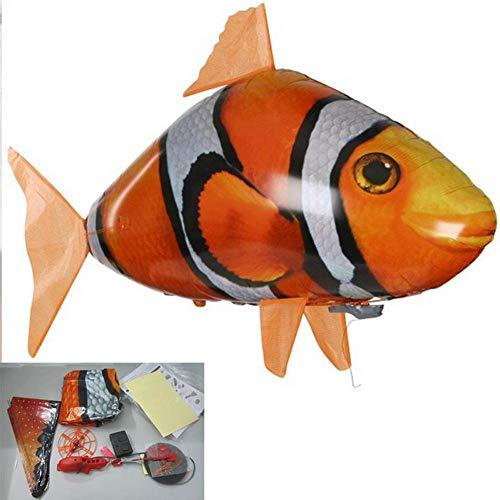 Womdee Air Swimmers - Globo Inflable para niños (155 cm), diseño de tiburón Volador y pez Payaso