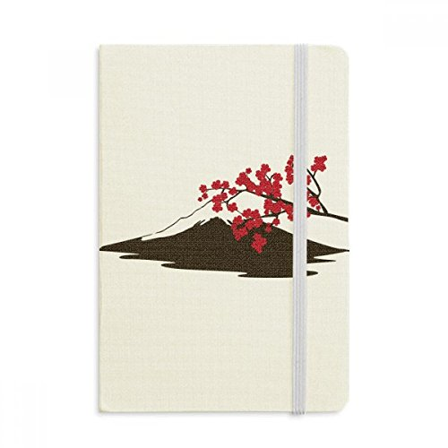 DIYthinker Giapponese Sakura e Fuji modello Taccuino Tessuto Copertina rigida Diario della rivista classica A5 A5 (144 x 210mm) Multicolore