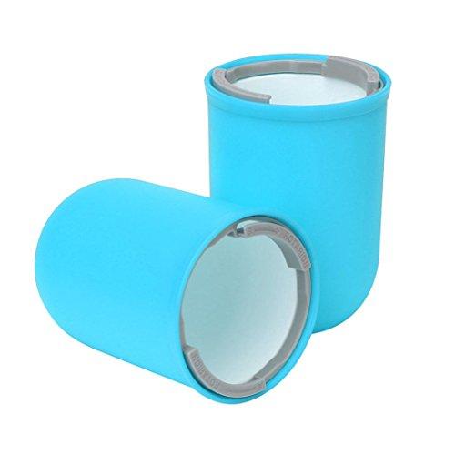 Ikea Wäscheständer (Travel Business Zahnbürste Speicher Tassen,Jaminy 4 In 1 Kreative Reise Waschen Tassen Kapselform Portable Mundwasser Toothbrh Zahn 2 Große Becher Und 2 Kleine Becher (Himmelblau))