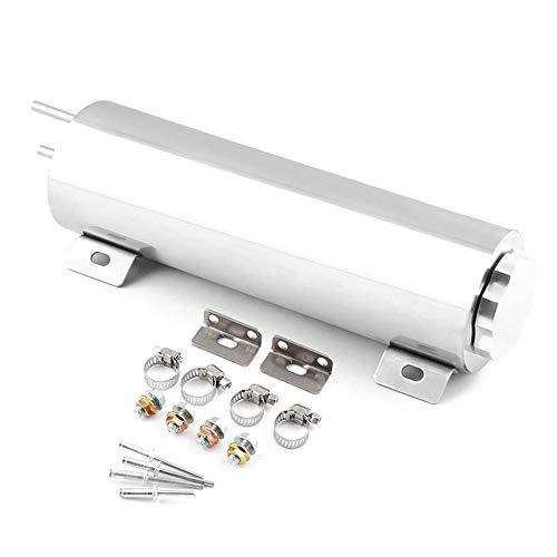 KEKDORY Polierter Edelstahl 32 Unzen Kühler Überlauf Tank Flasche Catch Can Auto Modifikation Kühler Kühlwasserflasche - Silber -