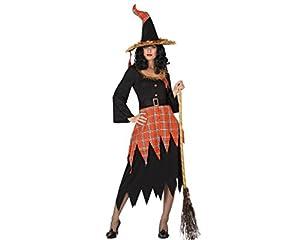 Atosa 26218 - traje de bruja para las mujeres, tamaño 34/36 (XS-S), negro / naranja