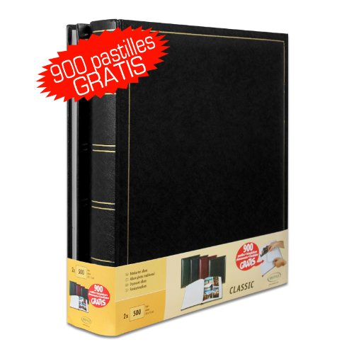Lot de 2 Albums Traditionnels Jumbo 100 Pages pour 500 Photos 10x15 - No