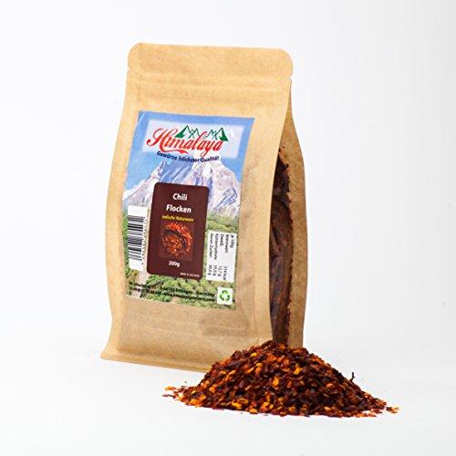 Chili flocken chilipulver chilies chipotle chili con carne geschrotet 200 g Premium Qualität aus...