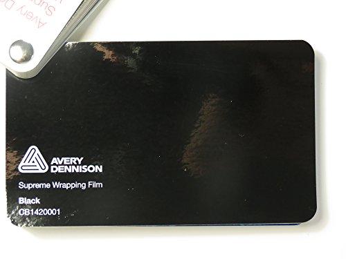 Preisvergleich Produktbild Avery Supreme Wrapping Film Serie Schwarz Glanz gegossene Autofolie 200 x 152 cm