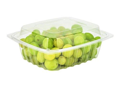 Dart c24der, ca. 680ml clearpac klar rechteckig, Kunststoff Container mit Clear Dome Deckel, Take Out Deli Fruit Einweg Lebensmittelbehälter farblos - Dart Container Clearpac
