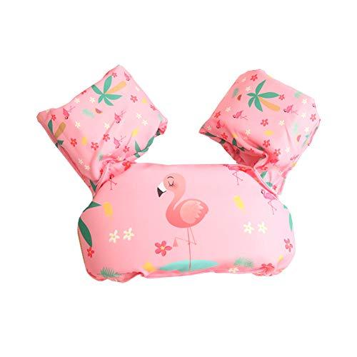 Bili Schwimmflügel für Kinder Schwimmhilfe für Kleinkinder von 2-6 Jahre, 15-30kg Kinderschwimmweste für Jungen und Mädchen (Pink-Flamingo)