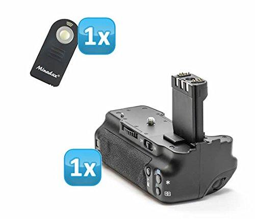 Minadax Profi Batteriegriff für Canon EOS 350D, 400D wie der BG-E3 - für NB-2LH und 6 AA Batterien + 1x Infrarot Fernbedienung!