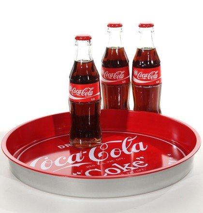 Tablett Coca-Cola rund