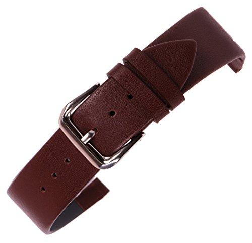 16mm braun reine Leder Ersatzarmband Uhr Gürtel Anti-Allergie obere Schicht Kuhhaut für intelligente Uhr