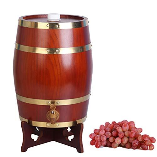 GWM Eichenfass Weinfass - Holzfass Vintage Antik Lagerung oder Alter Wein und Spirituosen, Weinfass Weißweinfass Bierfass Dekoration Laden Barrel Eichenfass Lagerung (Color : B, Size : 15L) - 15l-handbuch