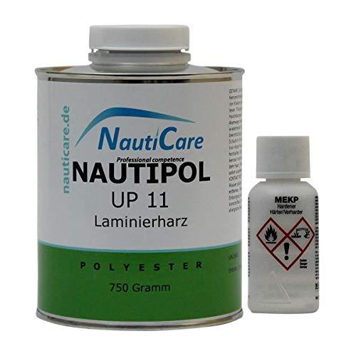 NautiCare NautiPol UP 11 Laminierharz-Set 770 g - Styrolfreies Polyesterharz - Polyester Harz und MEKP Härter -