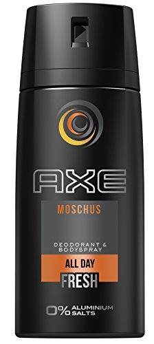 AXE Deospray Moschus ohne Aluminium 150 ml, 3er Pack (3 x 150 ml) (Axe Body Spray Deodorant)