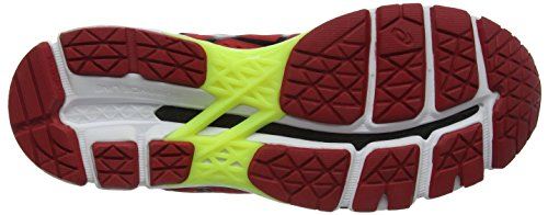 Asics Kayano 22, Chaussures de Running Homme Rouge (Red Pepper/Black/Flash Yellow)