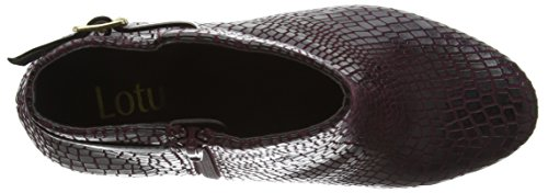 Lotus Damen Adoette Kurzschaft Stiefel Purple (Burgundy Print)